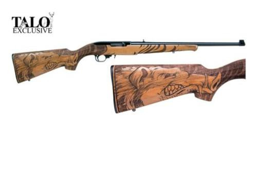 "Ruger 10/22 Razorback, 22LR, 18.5"", Walnut Stock with Razorback Carving, Blued, Talo Exclusive"