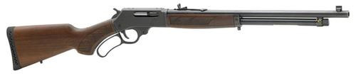 """Henry Repeating Arms, Lever Action .410 Rare Carbine Shotgun, 410Ga, 20""""rd Barrel, Smooth/No Choke, Blued Frame, Pistol Grip American Walnut Stock Rubber Buttpad, 5Rd, Fully Adjustable Semi-Buckhorn Rear Sight, and Brass Beaded Front Sight"""