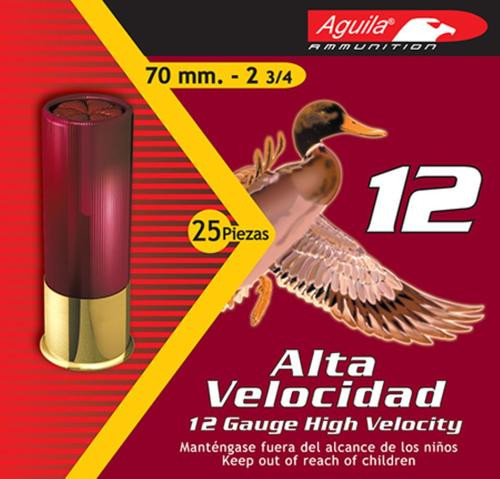 "Aguila Hunting High Velocity 12 Ga, 2.75"", 1-1/4oz, 4 Shot, 25rd/Box"