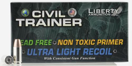 Liberty Ammunition Civil Trainer 9mm 65gr, 50rd Box