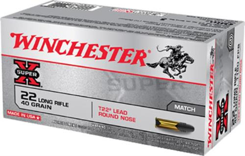 Winchester Ammunition, Super-X, 22 LR, 40gr, Lead Round Nose Target,, 50rd Box