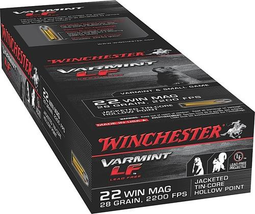 Winchester Varmint LF 22 WMR, 25gr, Jacketed Hollow Point, 50rd Box