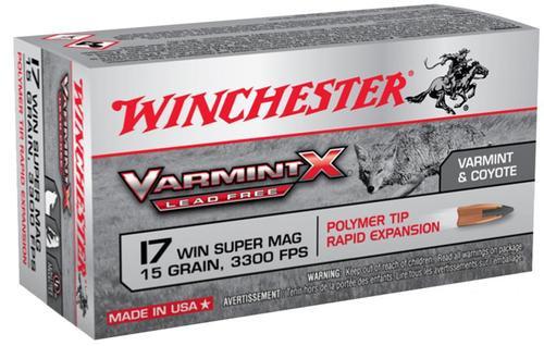 Winchester Varmint X 17 WSM 15gr, Polymer Tip Lead Free, 50rd Box