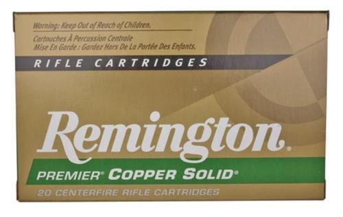 Remington Premier Lead-Free 300 Win Mag 165gr, Copper Solid Tipped Boattail 20rd Box