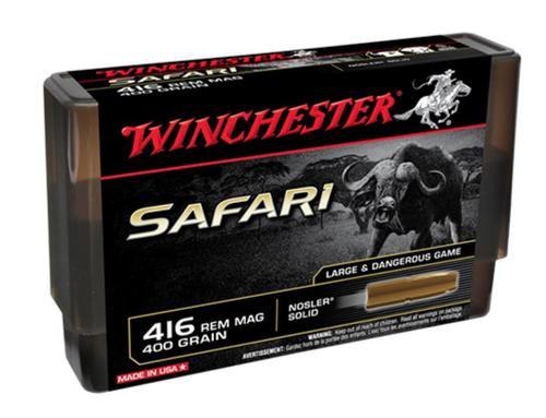 Winchester Supreme 416 Remington Magnum 400gr, Nosler Solid 20 Bx/