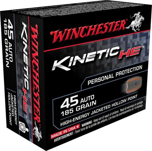 Winchester Kinetic High Energy 45 ACP 185gr, 20rd Box