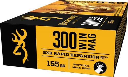 Browning BXR Rapid Expansion 300 Win Mag 155gr, Matrix Tip, 20rd Box