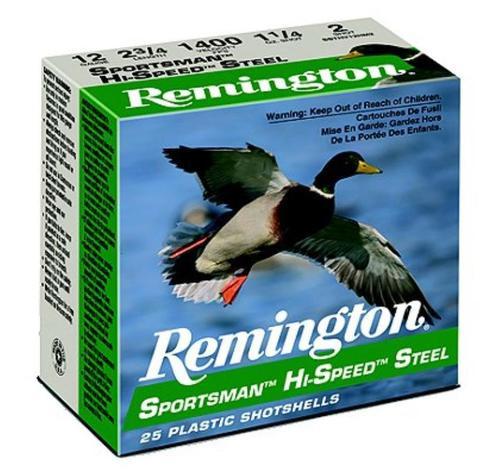 """Remington Sportsman Steel Loads 12 Ga, 2.75"""", 1.1oz, 2 Shot, 25rd/Box"""