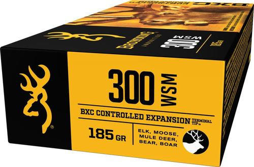 Browning BXC Controlled Expansion 300 WSM 185gr, Terminal Tip, 20rd Box