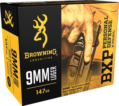 Browning BPX X-Point 9mm 147gr, HP, 20rd Box