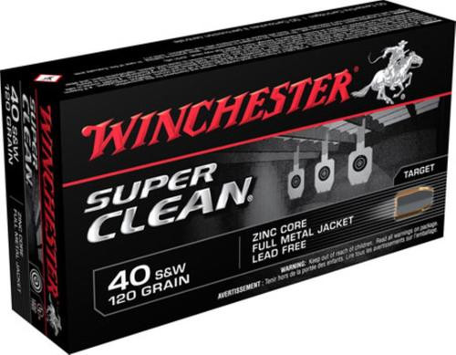 Winchester Super Clean 40 Smith & Wesson 120gr, Full Metal Jacket, 50rd Box