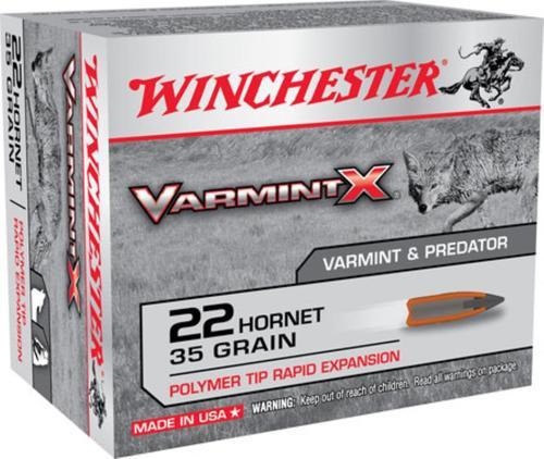 Winchester Varmint X, 22 Hornet, 35gr, Polymer Tip, 20rd Box