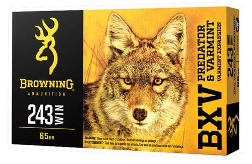 Browning BXV Predator and Varmint 243 Winchester 65gr, Varmint, 20rd Box