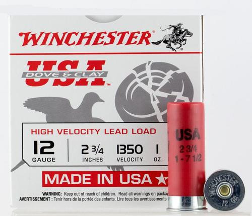 "Winchester Dove and Clay 12 Ga, 2.75"", 1oz, 7.5 Shot, 250rd/Case (10 Boxes of 25rd)"