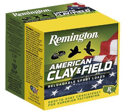 "Remington American Clay & Field 12 Ga, 2.75"", 1 oz, 8 Shot, 25rd/Box"