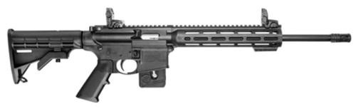 "Smith & Wesson, M&P15-22, Semi-Automatic, AR, 22 LR, 16.5"" Barrel, Black, Fixed 6 Position Stock, 10"" M&P Slim Handguard with Magpul M-LOK, 10Rd, Magpul Flip up Rear Sight, CA Compliant"