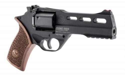"Chiappa Rhino 50DS SAR, .357 Mag, 5"", 6rd, Walnut Grip, Black Stainless Steel"