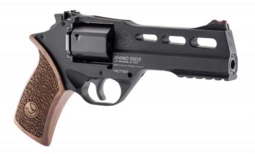 "Chiappa Rhino 50DS SAR, .357 Mag, 5"", 6rd, Walnut Grip, Black Stainless Steel"