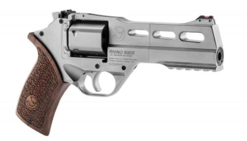 "Chiappa Rhino 50DS SAR, Single Action Only-CA Legal .357 Mag, 5"", 6rd, Walnut Grip, Stainless Steel"