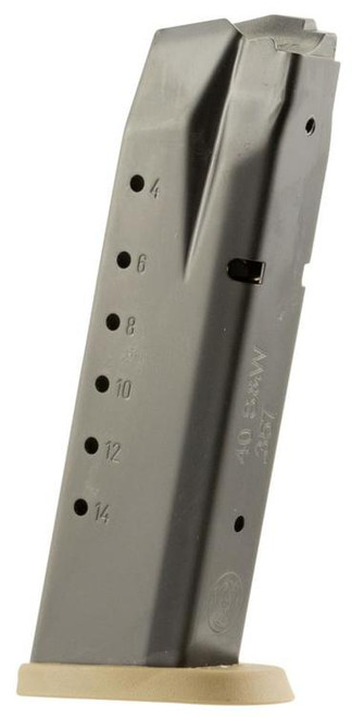 Smith & Wesson M&P 40 S&W Magazine, Steel Black Body/FDE Base, 15rd