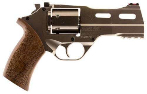 "Chiappa Rhino 40DS SAR, .357 Magnum, 4"", 6rd, Walnut Grip, Stainless Steel"