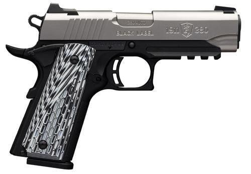 "Browning 1911-380 Single 380 ACP 4.25"", Black,, rd,  8 rd"