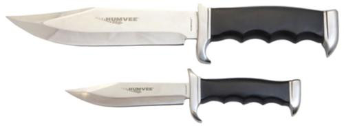 Campco Humvee Accessories Bowie Knife Multiple Stainless Steel Fixed Black, Set 2