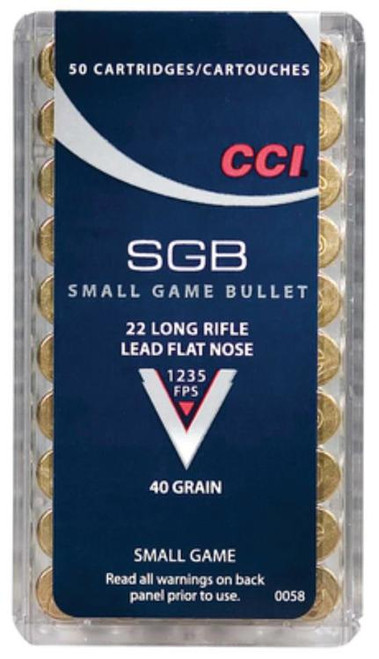 CCI 22LR Small Game 40gr Lead Flat Nose, 50rd Box
