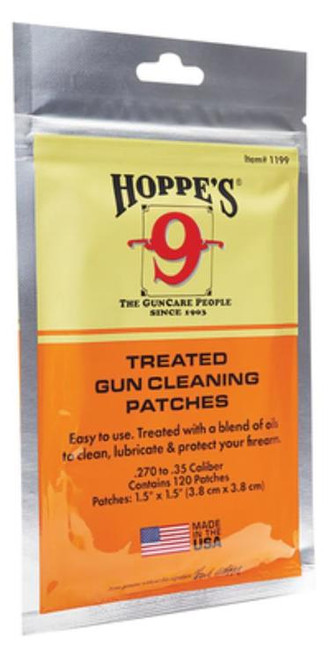 Hoppe's Hoppes Treated Gun Cleaning Patches .22 - 270 120 per Package