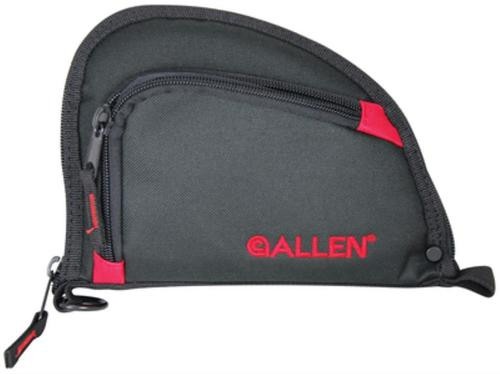 """Allen Auto-Fit Compact One Pocket Allen Handgun Case 7"""" Black/Red"""
