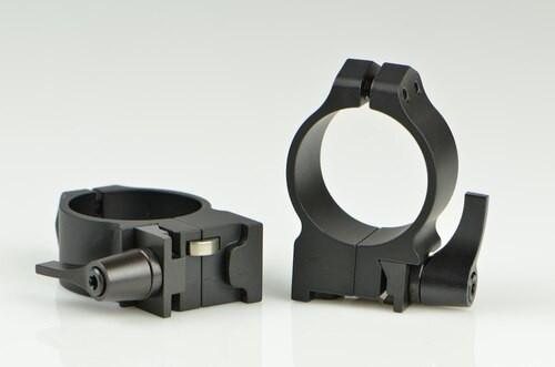 Warne Ruger 30mm Ruger, QD, Med Matte Rings, Fits #1, Mini 14-30, Grooved Receiver