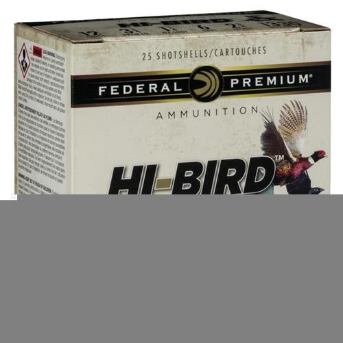 "Federal Hi-Bird Game Load 12 Ga, 2.75"", 1-1/8oz, 7.5 Shot, 25rd/Box"
