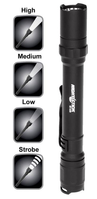Bayco Nightstick MT 220 Mini Tac Pro 200/90/45 Lumens AA (2) Black