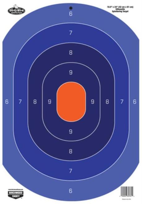 "Birchwood Casey Dirty Bird Paper Silhouette Target Blue/Orange 16.5x18"" 3 Per Package"