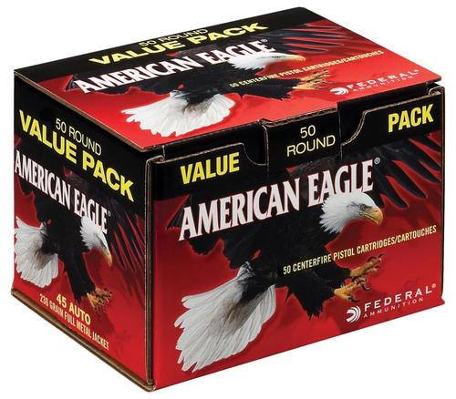 Federal American Eagle 45 ACP 230gr, Full Metal Jacket, 50rd/Box