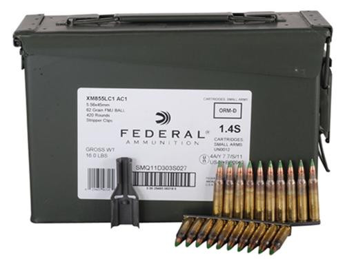 Federal XM 223 Remington/5.56 NATO 62gr, Full Metal Jacket, 30rd/Box