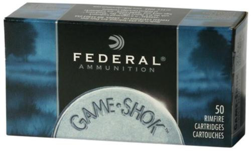 Federal Game-Shok 22LR 38gr, Copper Plated Hollow Point, 500/Box