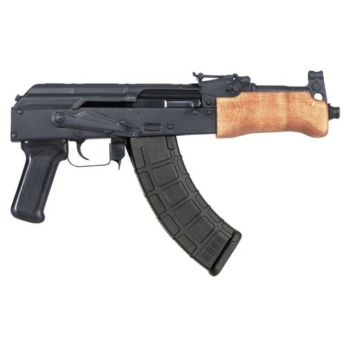 "F.A. Cugir Mini Draco AK-47 Pistol, Semi-auto, 762X39, 7.75"" Barrel, Polymer Grip, Wood Furniture, 1-30 Rd Mag"