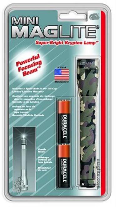 Maglite Mini Maglite Incandescent Flashlight 2AA Camo