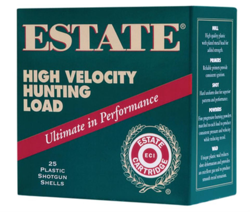 "Estate High Velocity Hunting 28 Ga, 2 3/4"", 1295 FPS, 3/4oz, 6 Shot, 250rd/Case"