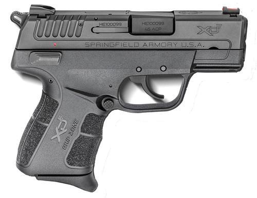 "Springfield XDE Compact, 45 ACP, 3.3"" Barrel Ambi Safety, Fiber Optic Front Sight Combat Rear Sight, 1-6Rd & 1-7Rd Mag"