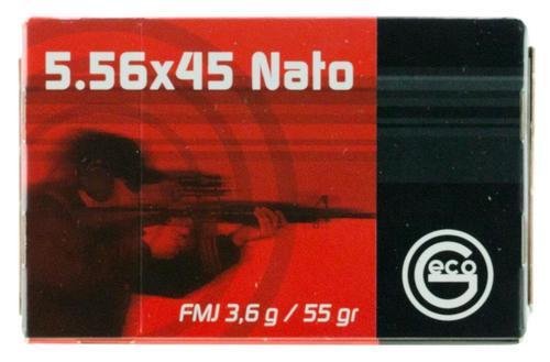 GECO 223 Re/5.56 NATO 55gr, Full Metal Jacket, 50rd Box