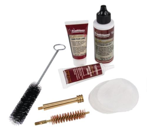 Traditions EZClean2 Muzzleloader Cleaning Kit Brushes/Cleaner/Patches 7p