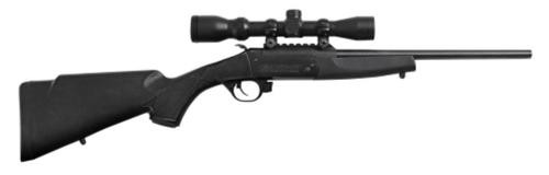 "Traditions Crackshot, Scope BO 22LR 16.5"" 1rd Black Synthetic Stock"