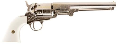 Traditions 1851 Navy Engraved Nickle Revolver (Inline) 44 Black Powder