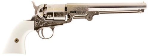 Traditions 1851 Navy Engraved Nickle Revolver (Inline) 44 Black Powder
