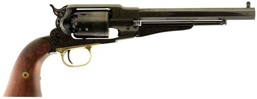 "Traditions 1858 Army Engraved Revolver (Inline) 44 Black Powder 8"" OB"