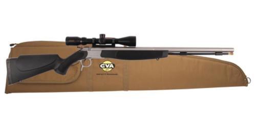 "CVA Optima v2 209 Magnum Series .50 Caliber 26"" Stainless Steel Fluted Barrel Black Stock KonusPro 3-9x40 Scope Padded Case"