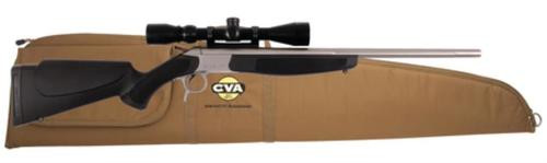 """CVA Scout V2 Single Shot Package .44 Magnum 22"""" Stainless Steel Barrel Synthetic Stock Black With KonusPro 3-9x40mm Riflescope and Case"""