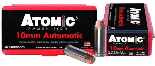 Atomic Defense 10mm Automatic 180gr, Bonded MHP 50rd Box